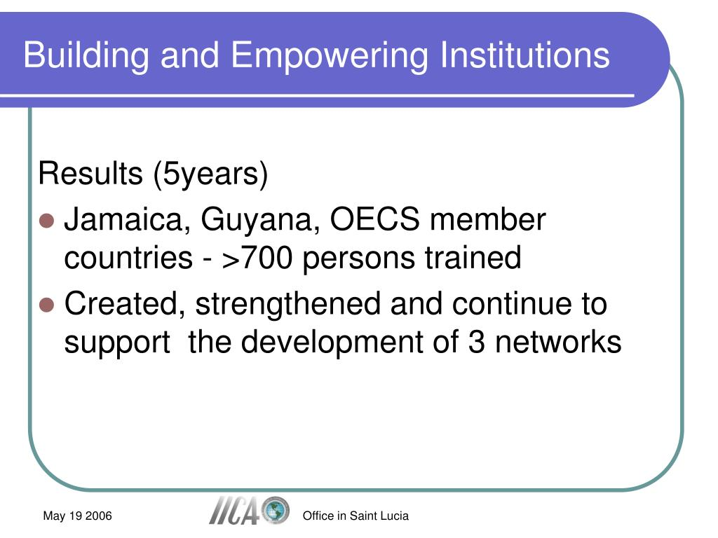 Building and Empowering Institutions