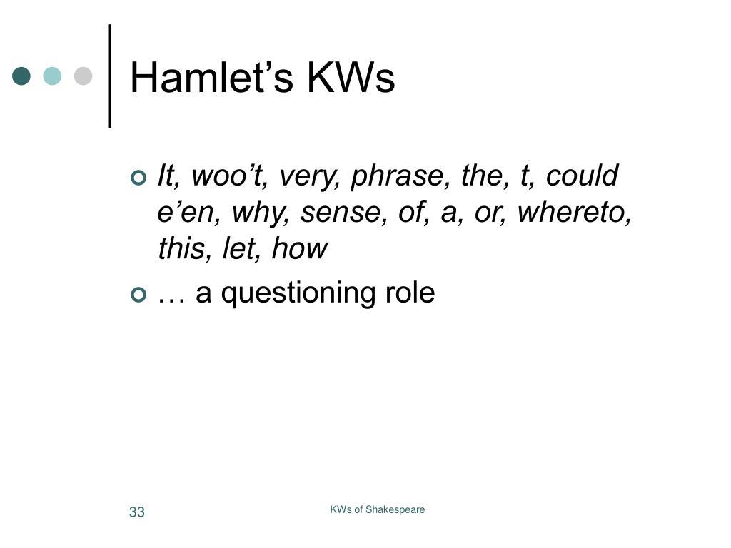 Hamlet's KWs