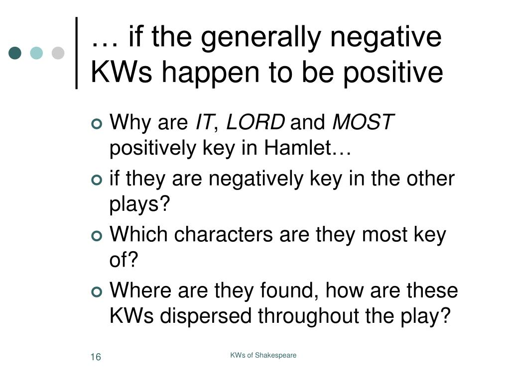 … if the generally negative KWs happen to be positive