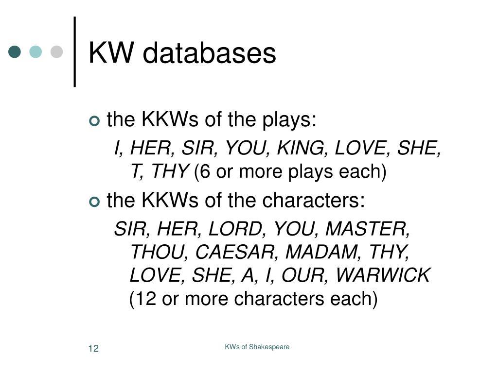 KW databases