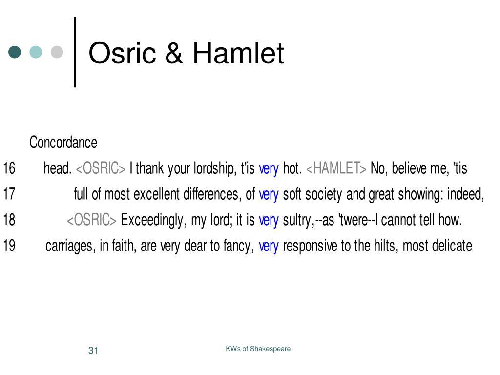 Osric & Hamlet