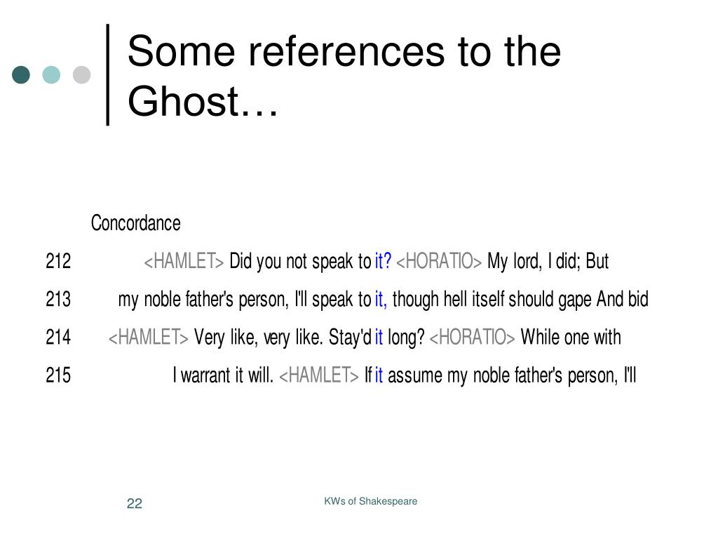 Some references to the Ghost…