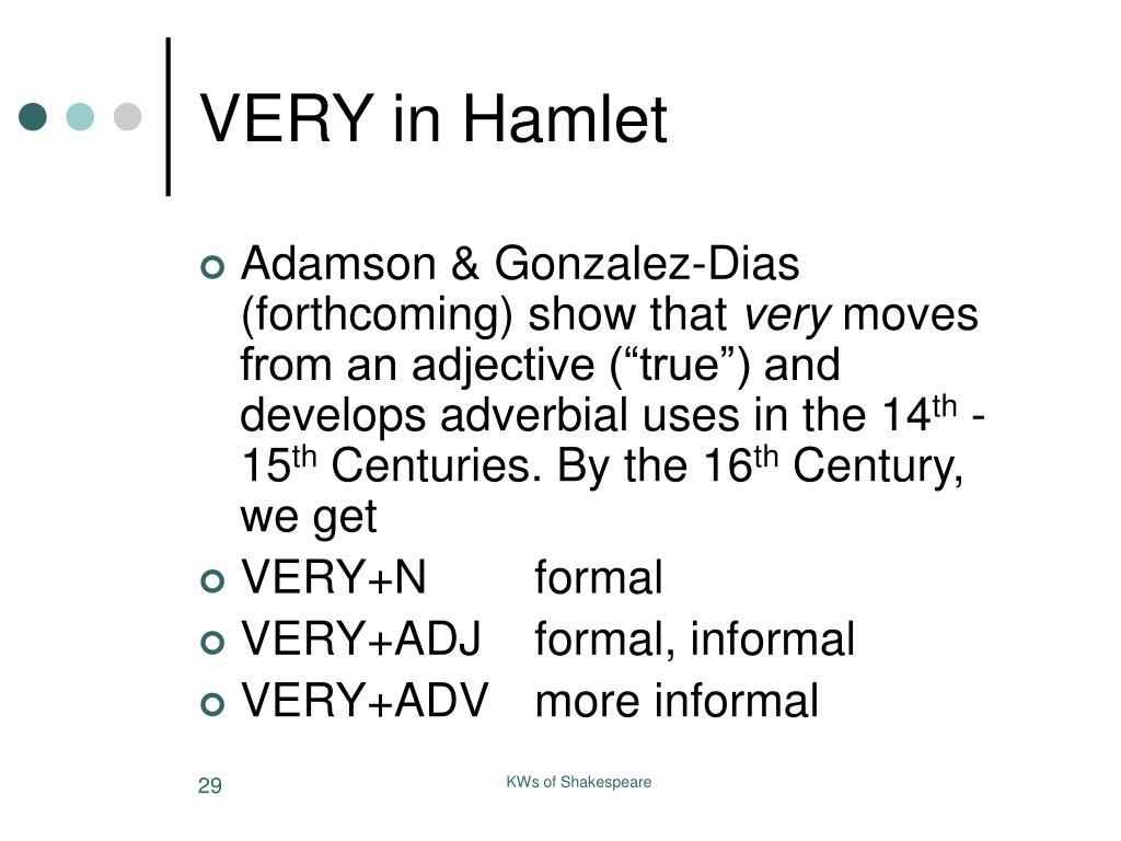 VERY in Hamlet