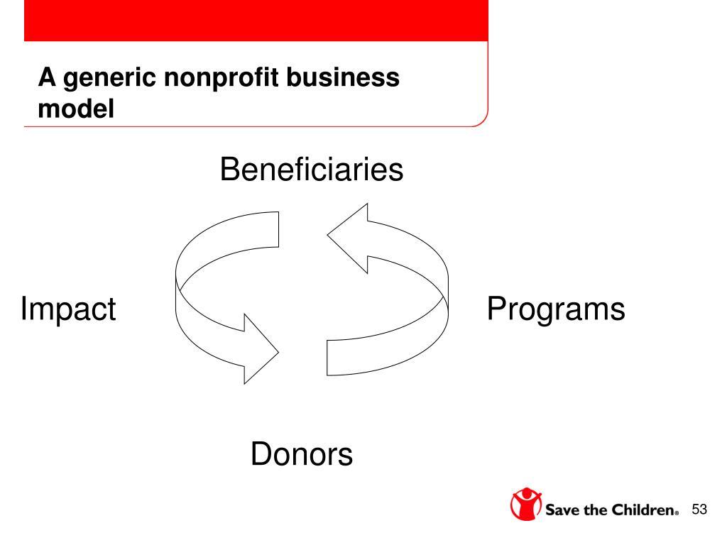 A generic nonprofit business model