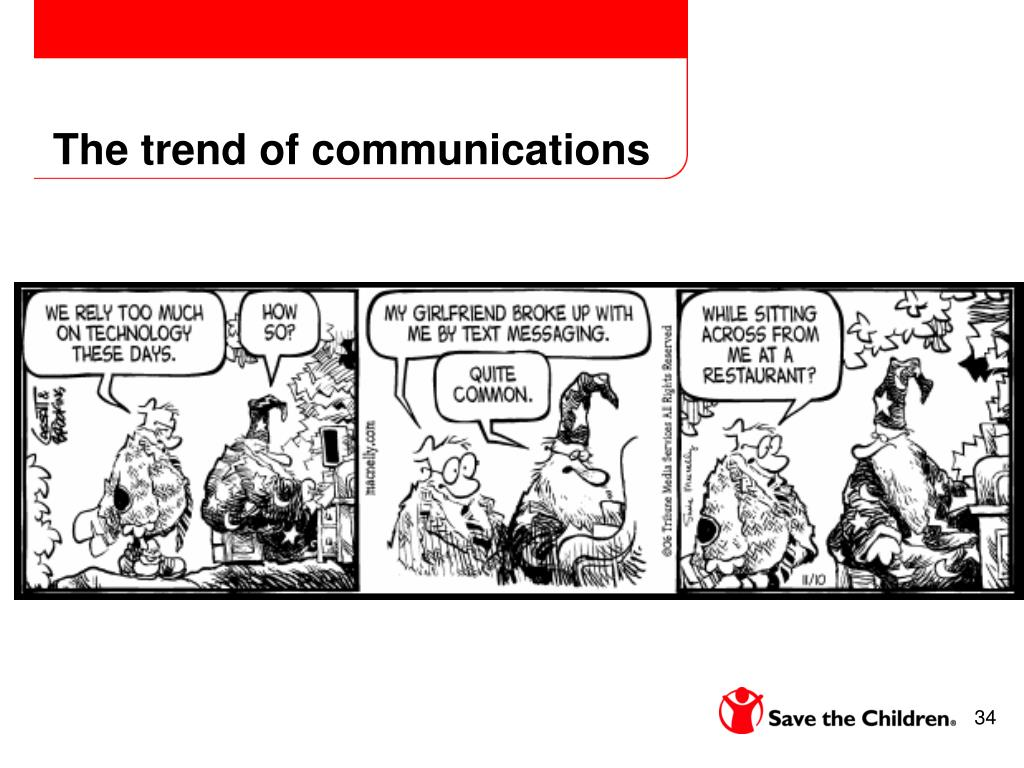 The trend of communications