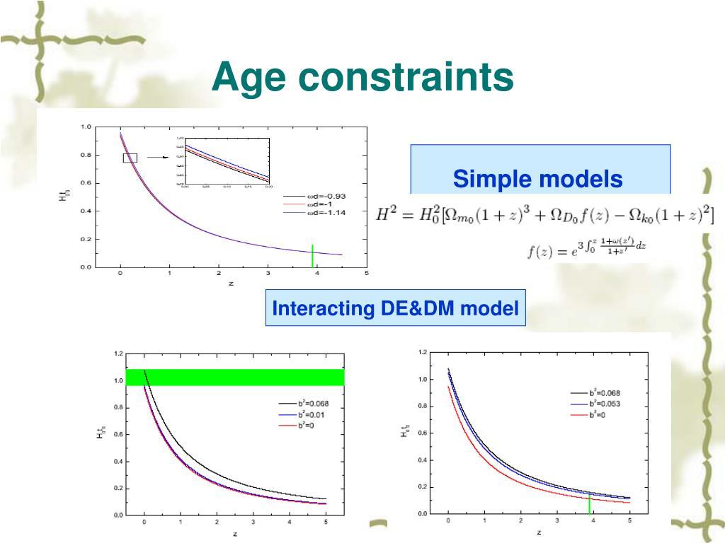 Age constraints