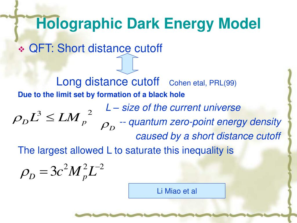 Holographic Dark Energy Model