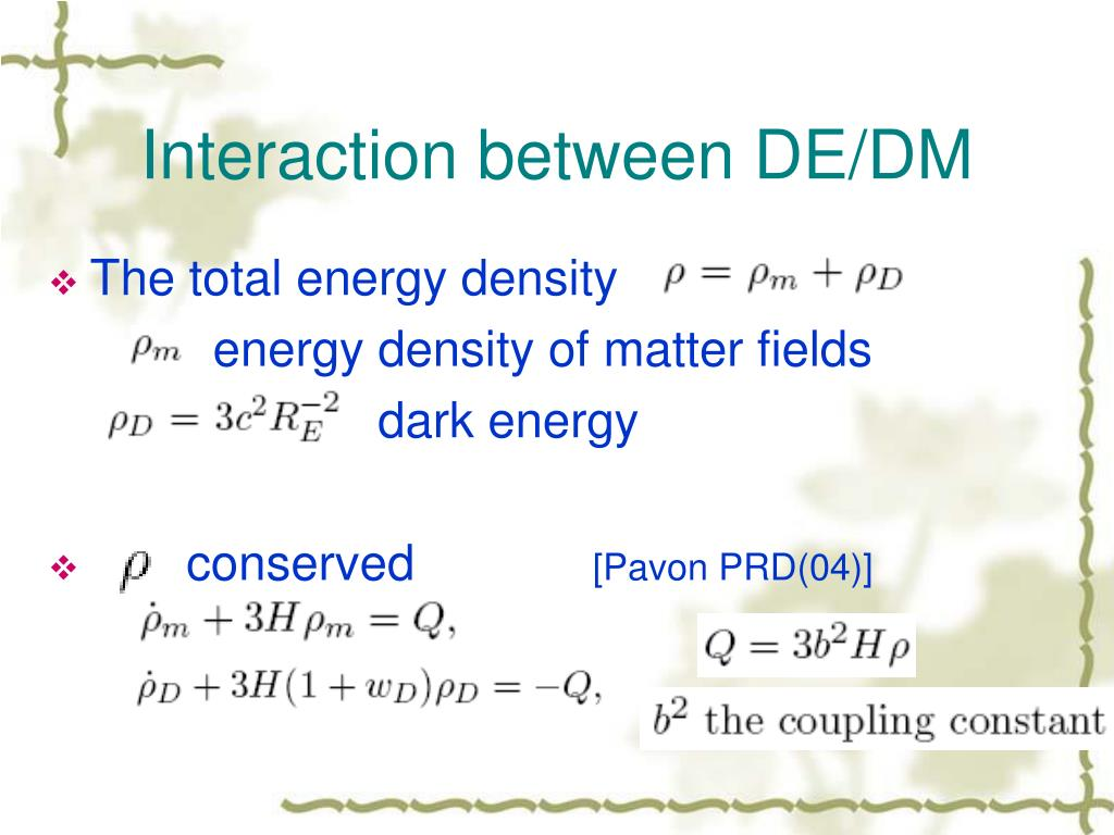 Interaction between DE/DM