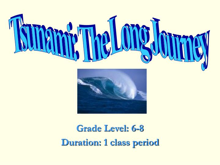 Grade level 6 8 duration 1 class period