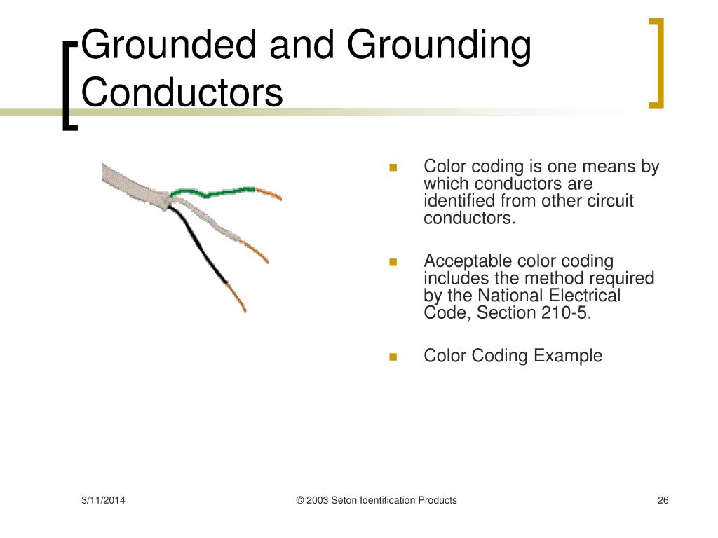 Grounded and Grounding Conductors