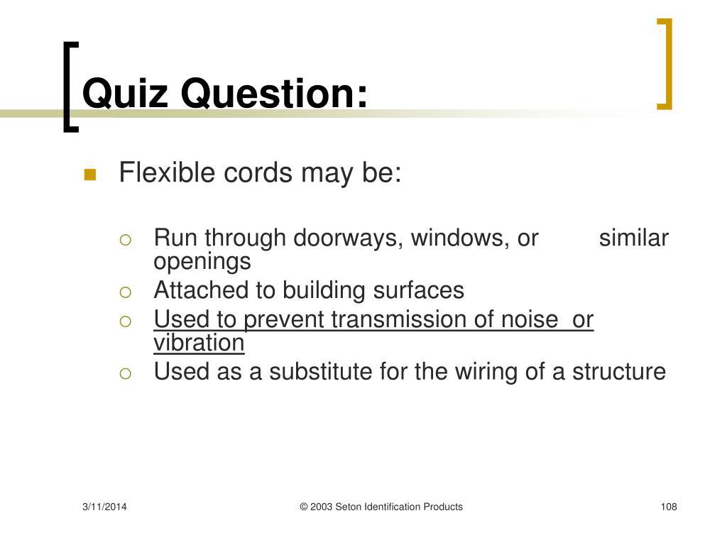 Quiz Question: