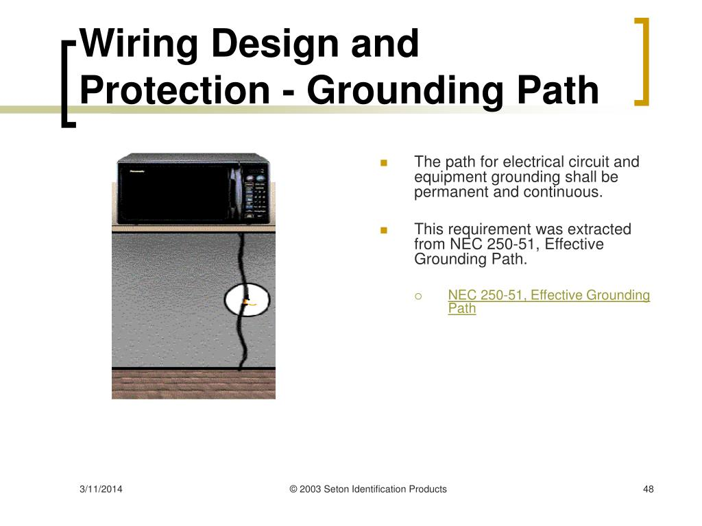 Wiring Design and Protection - Grounding Path