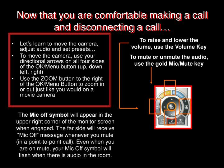 Now that you are comfortable making a call and disconnecting a call…