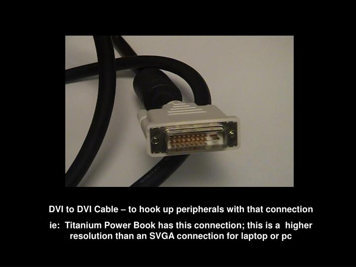 DVI to DVI Cable – to hook up peripherals with that connection