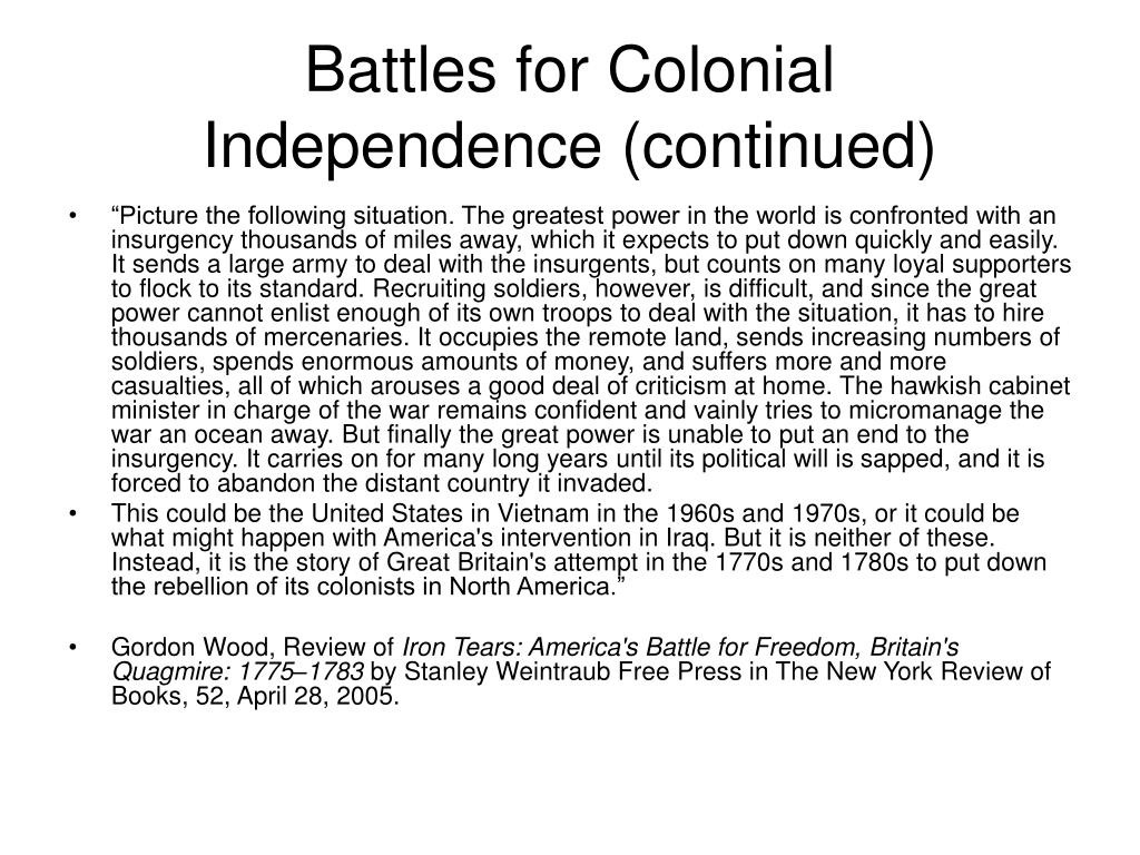Battles for Colonial