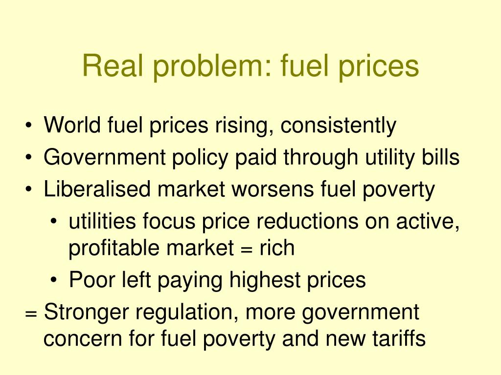 Real problem: fuel prices