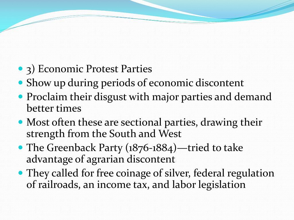 3) Economic Protest Parties
