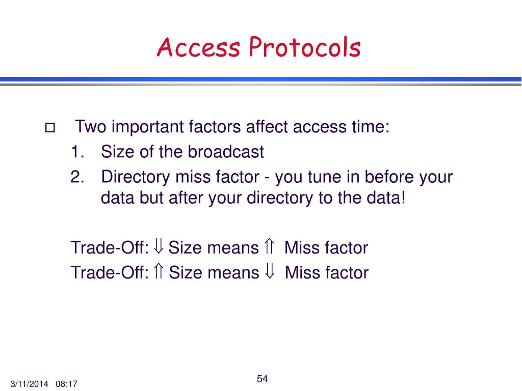 Access Protocols