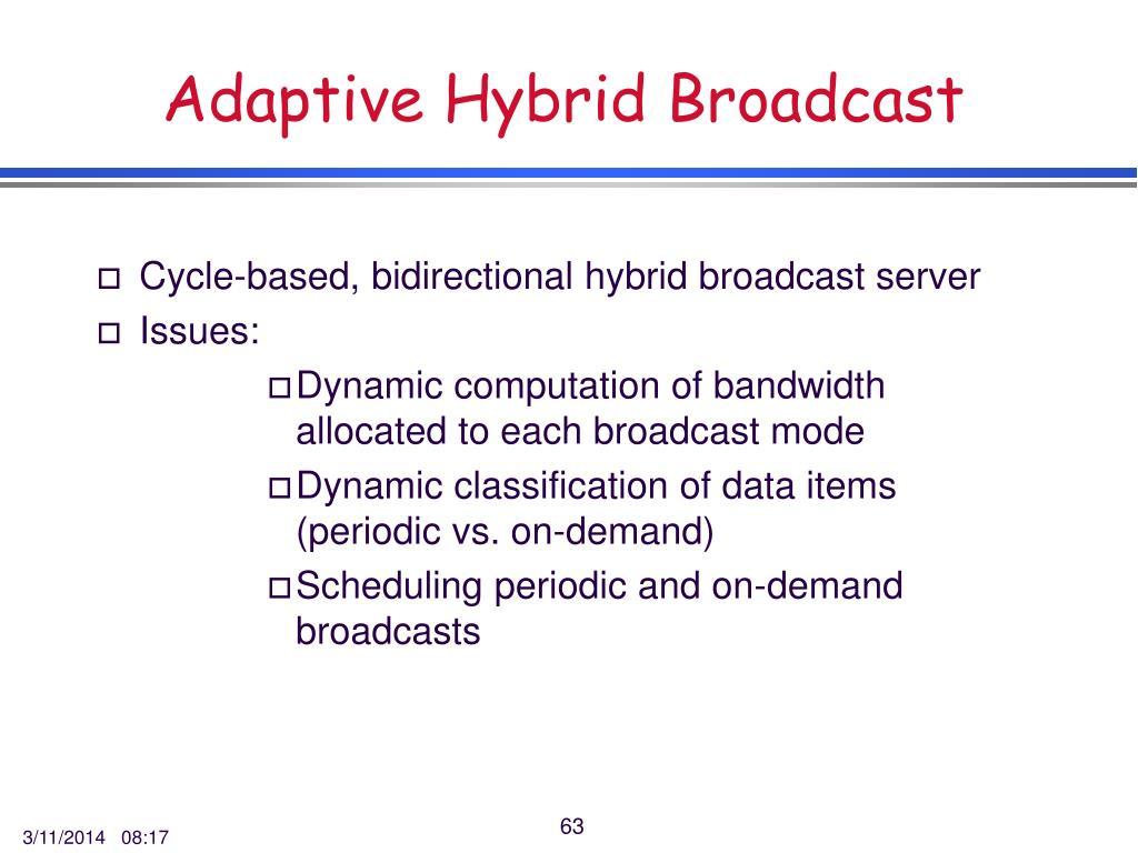 Adaptive Hybrid Broadcast