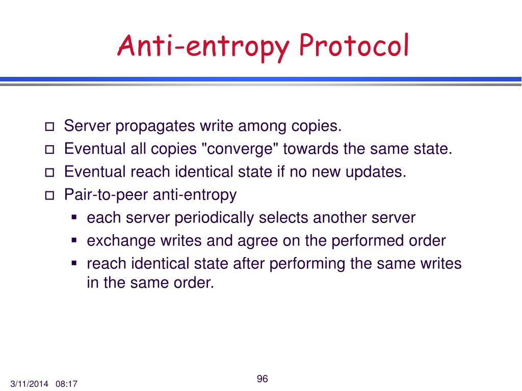 Anti-entropy Protocol