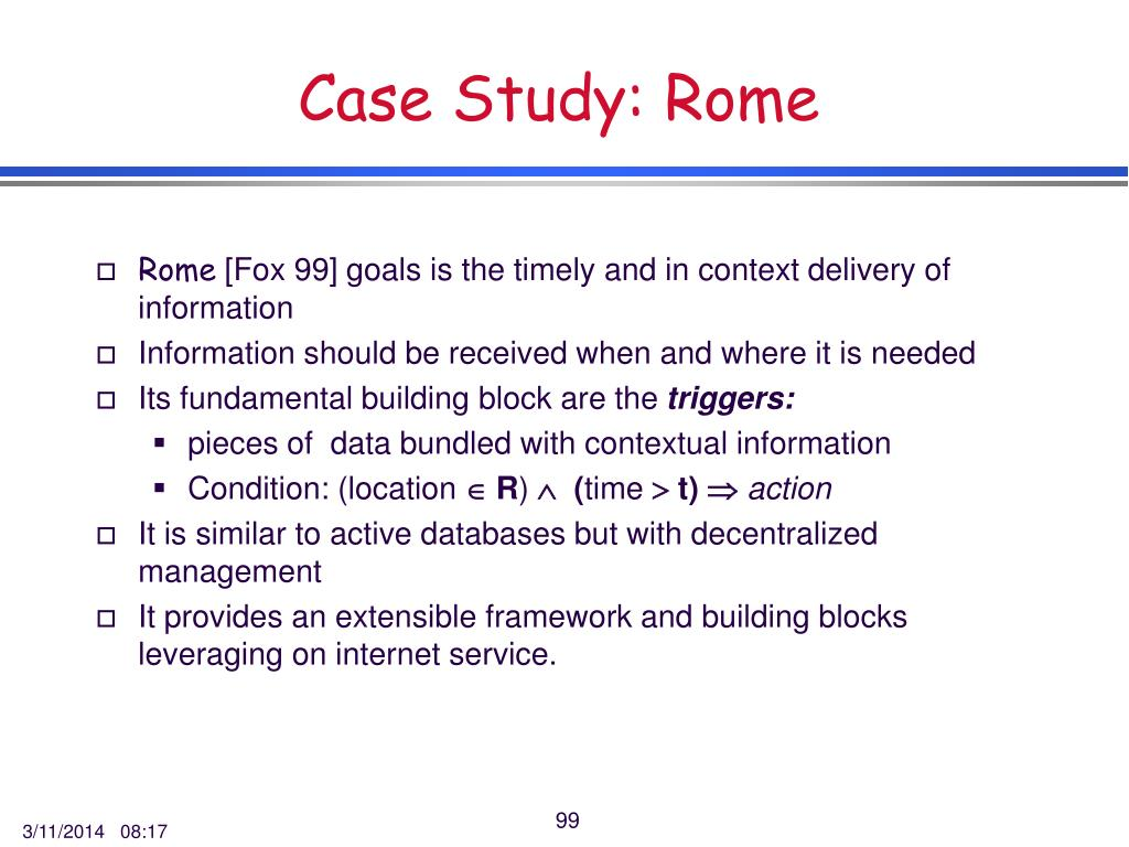 Case Study: Rome