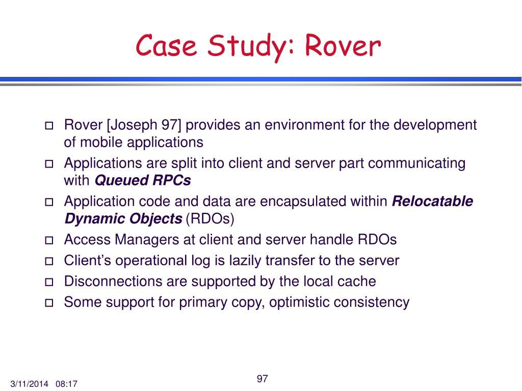 Case Study: Rover