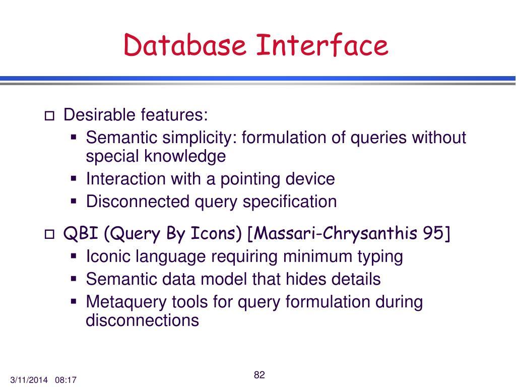 Database Interface