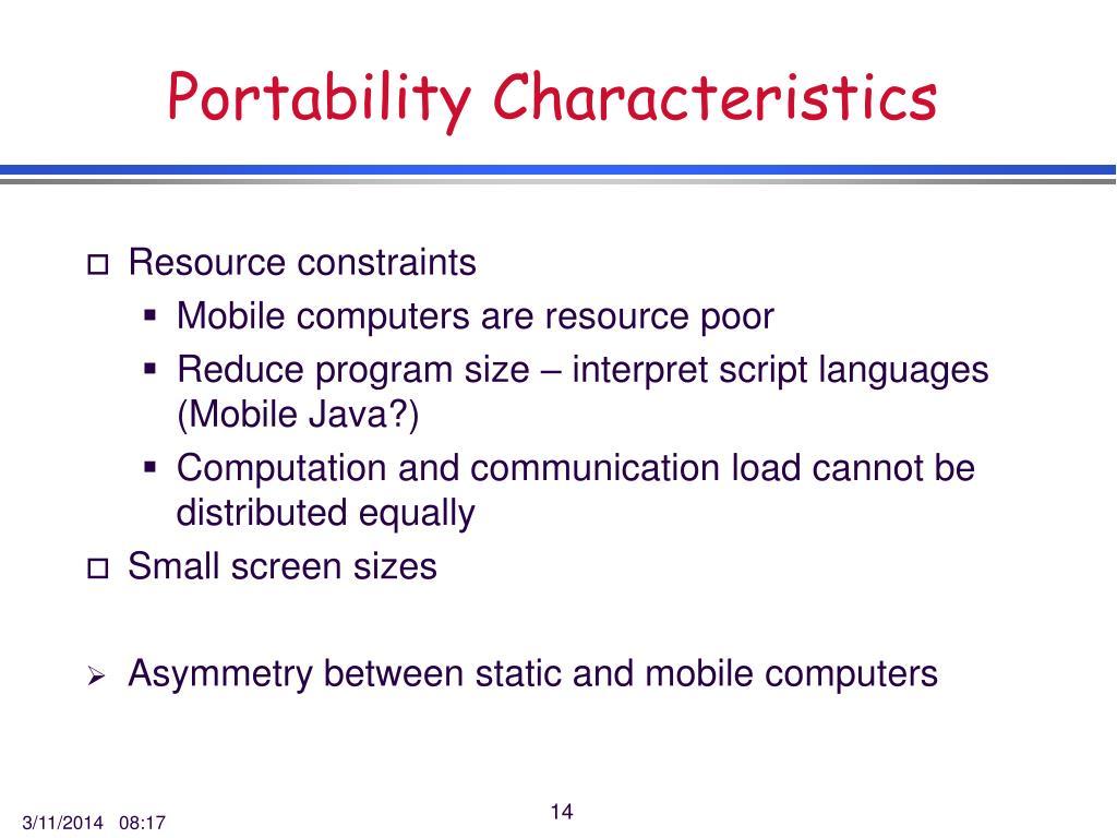 Portability Characteristics