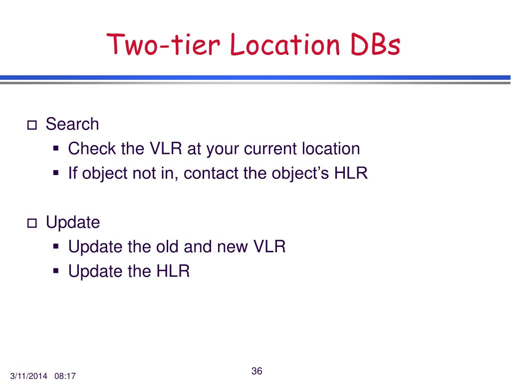 Two-tier Location DBs