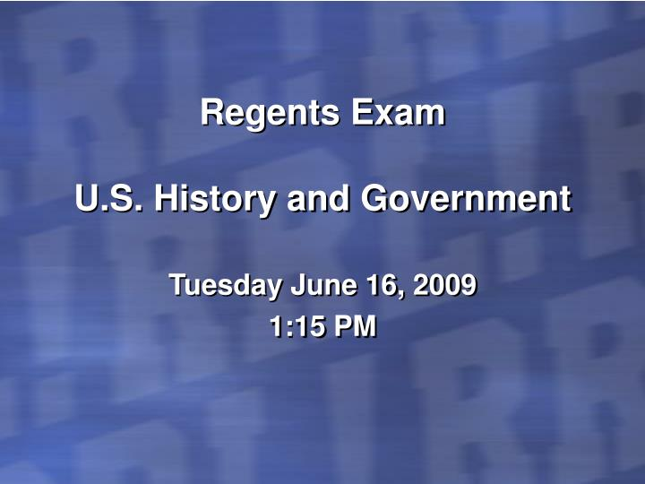 Regents exam u s history and government