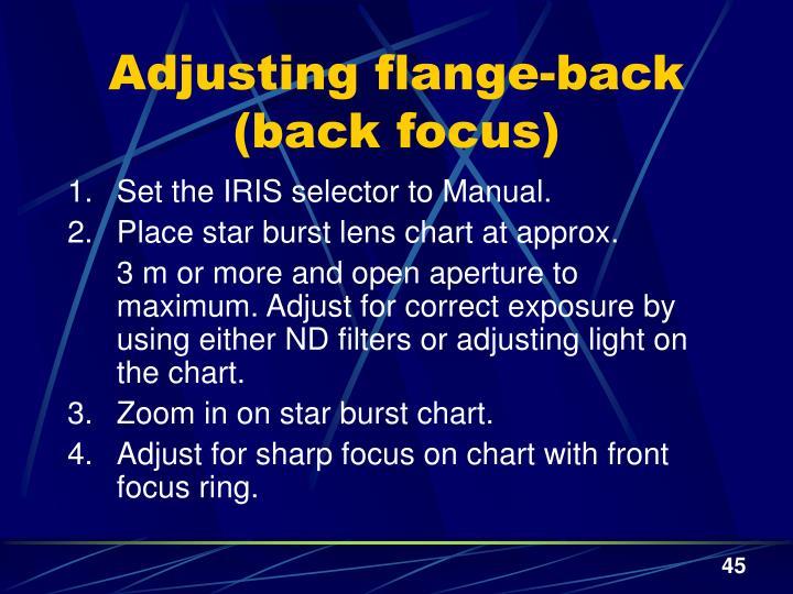 Adjusting flange-back