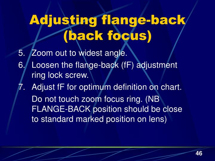 Adjusting flange-back