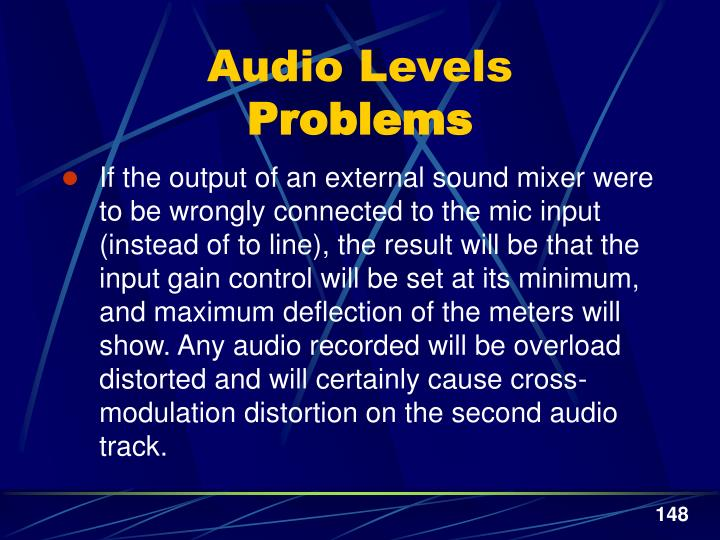 Audio Levels