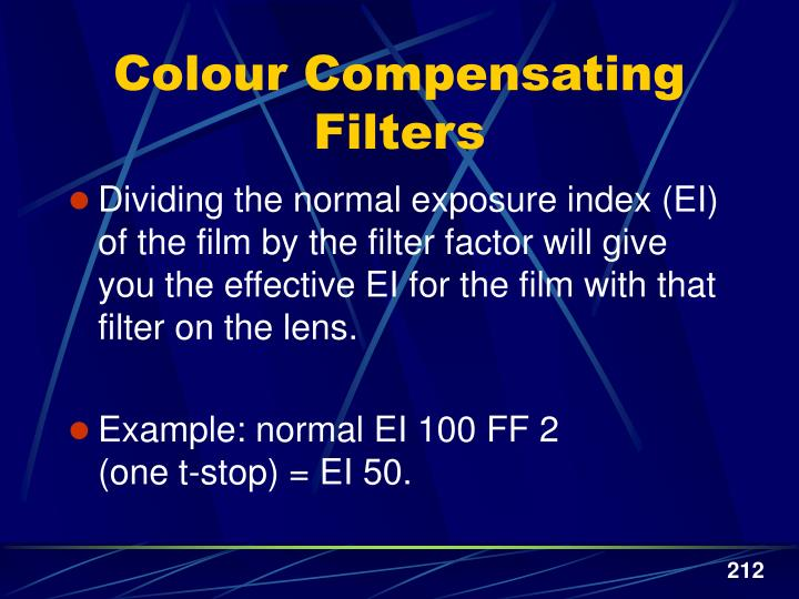 Colour Compensating Filters