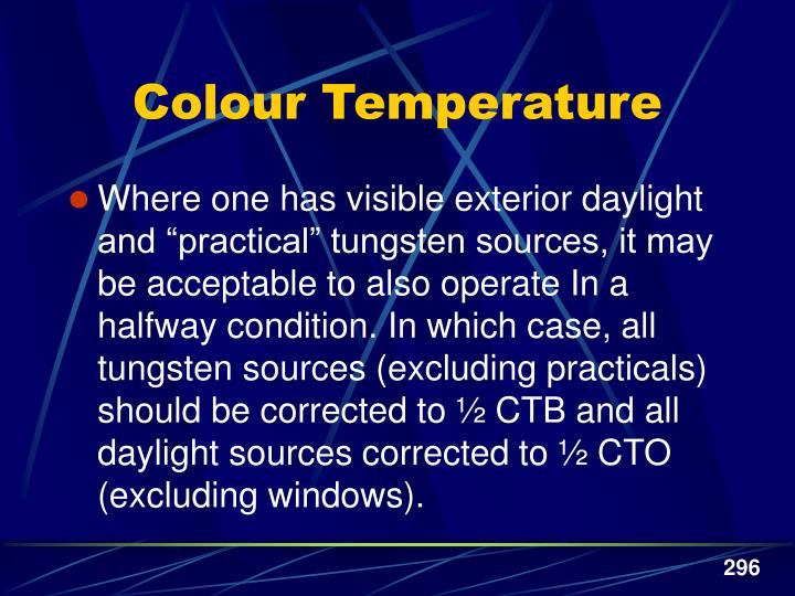Colour Temperature