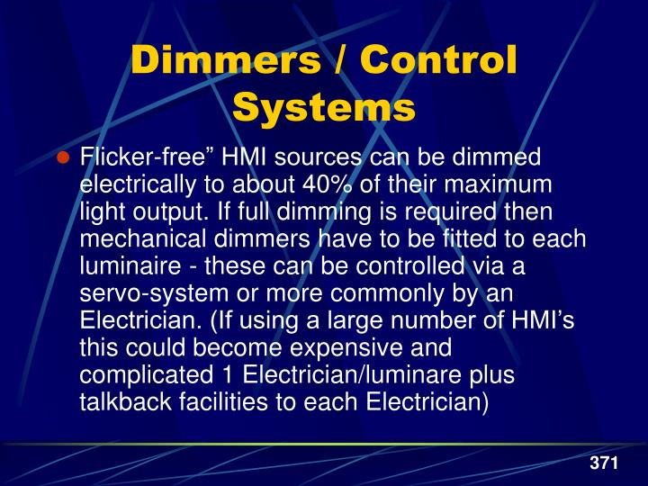 Dimmers / Control Systems