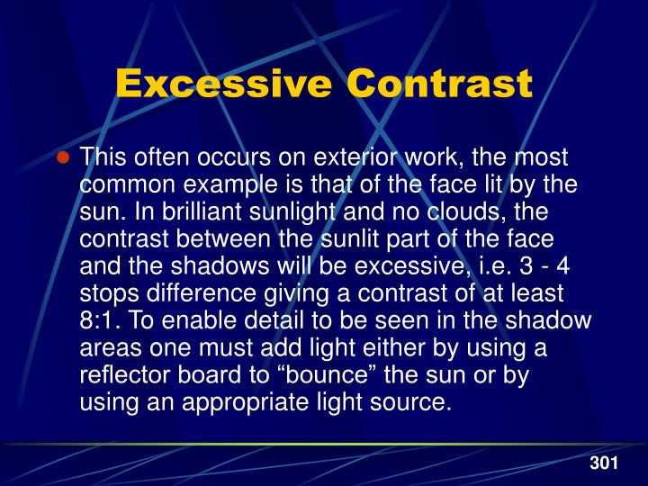 Excessive Contrast