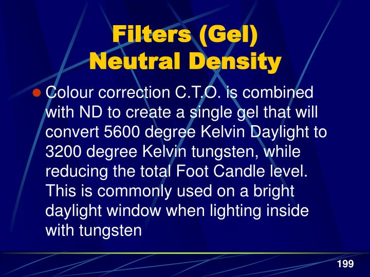 Filters (Gel)