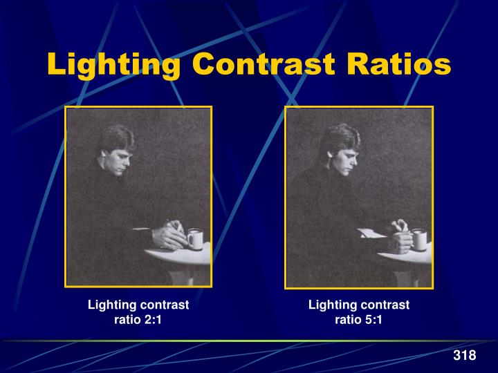 Lighting contrast ratio 5:1