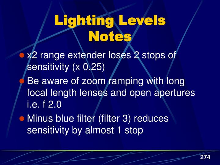 Lighting Levels