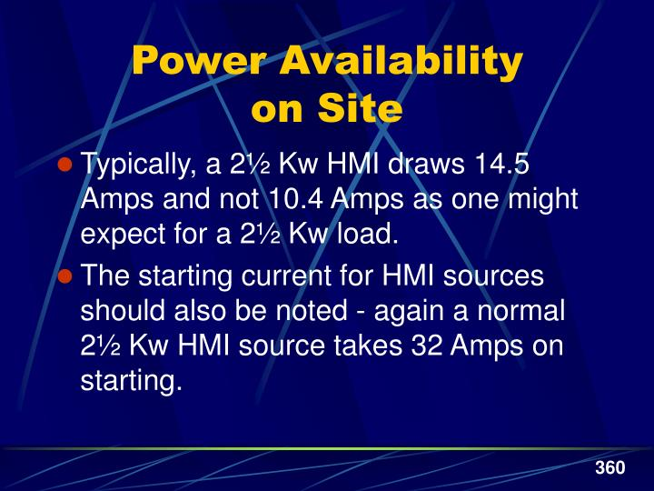 Power Availability