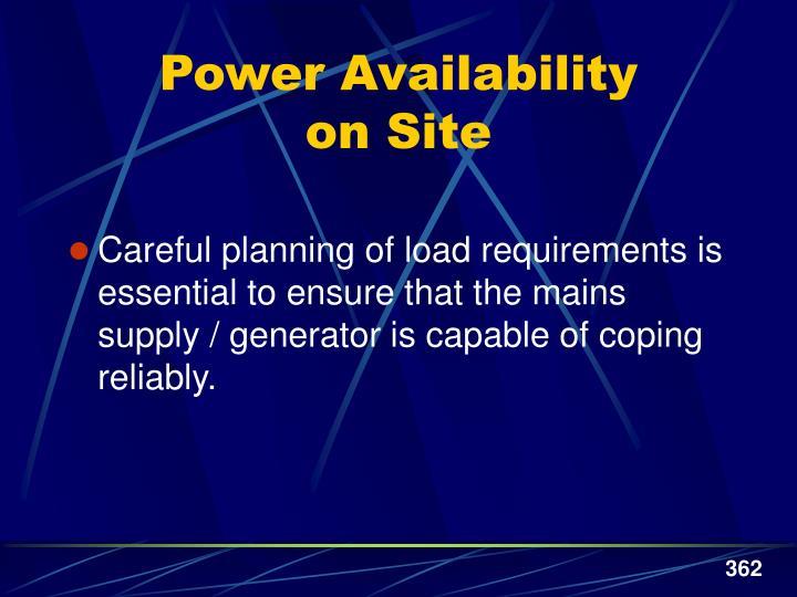 Power Availability