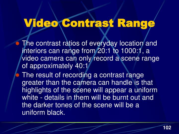 Video Contrast Range