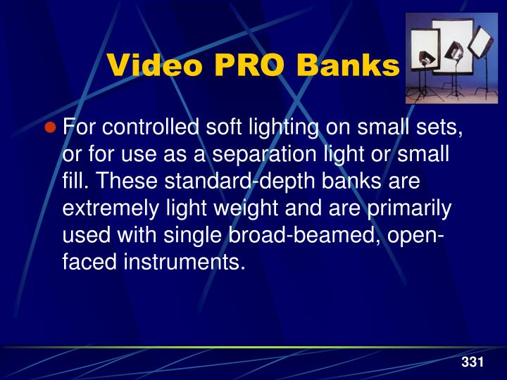 Video PRO Banks