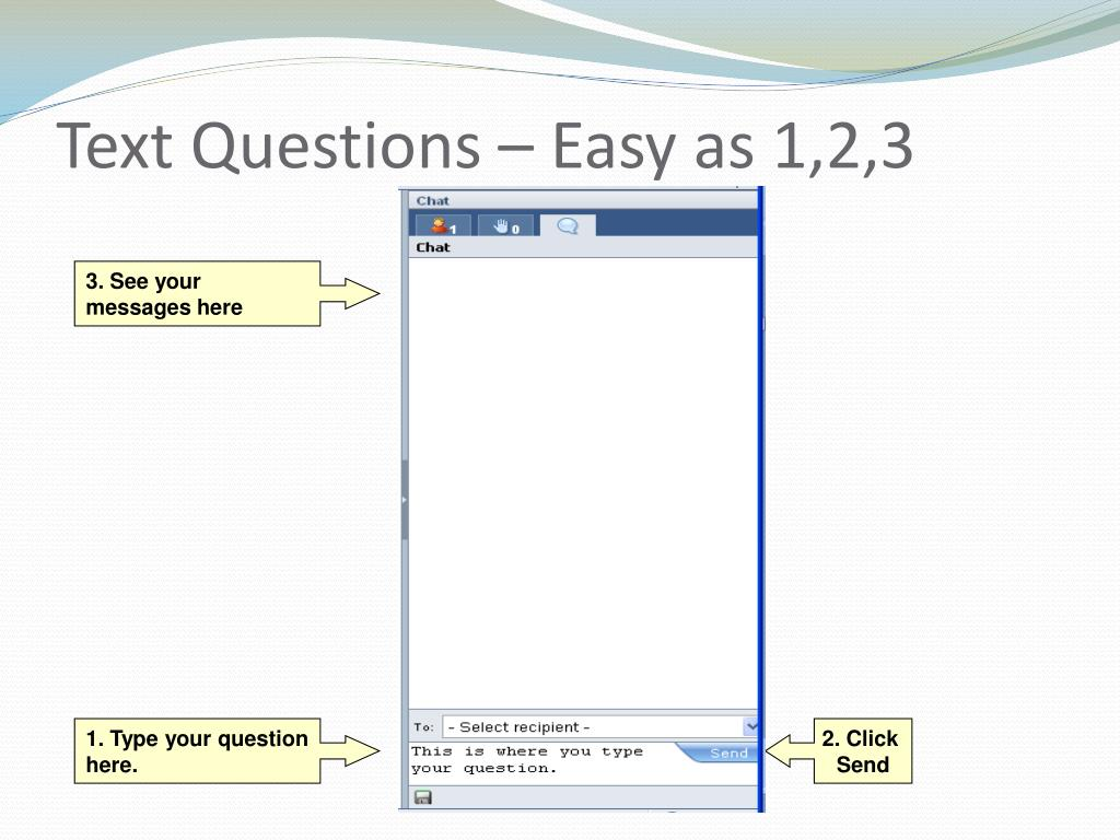 Text Questions – Easy as 1,2,3