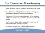 fire prevention housekeeping
