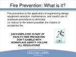 fire prevention what is it