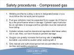 safety procedures compressed gas