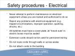 safety procedures electrical