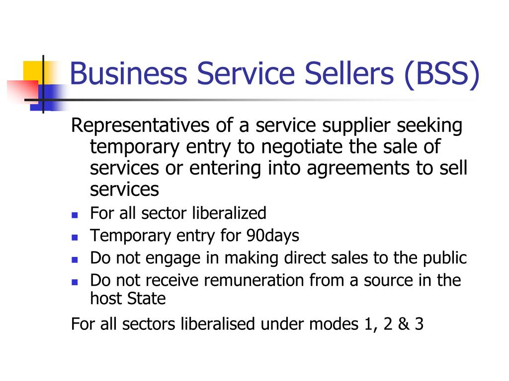 Business Service Sellers (BSS)